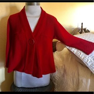 Sweater cover up brick red size L